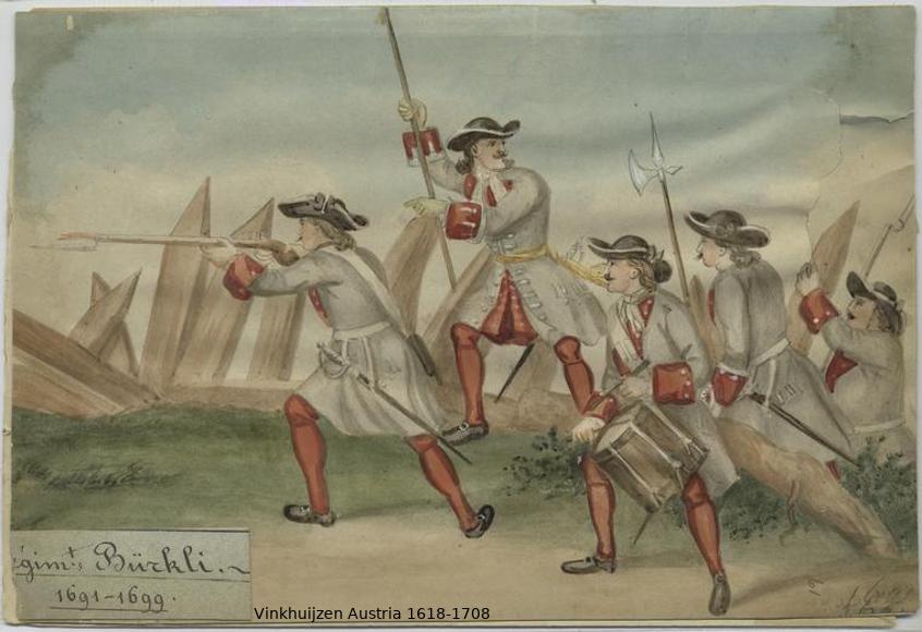 Austrian Uniforms Vinkhuijzen collection NYPL Austri32
