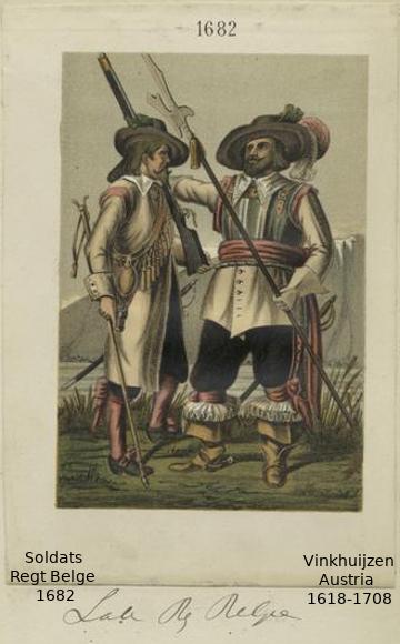Austrian Uniforms Vinkhuijzen collection NYPL Austri33
