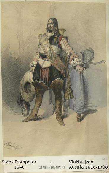 Austrian Uniforms Vinkhuijzen collection NYPL Austri34
