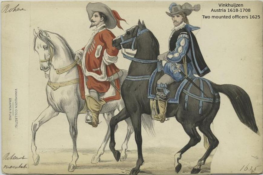 Austrian Uniforms Vinkhuijzen collection NYPL Austri45