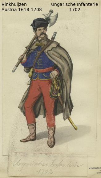 Austrian Uniforms Vinkhuijzen collection NYPL Austri46