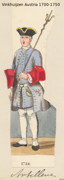 Austrian Uniforms Vinkhuijzen collection NYPL Austri48