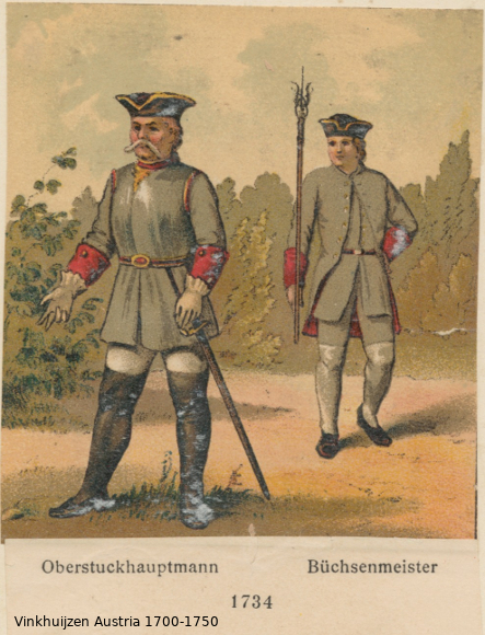Austrian Uniforms Vinkhuijzen collection NYPL Austri49