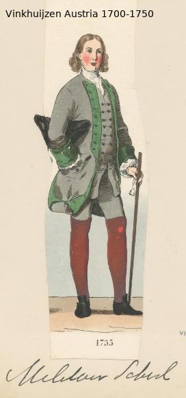 Austrian Uniforms Vinkhuijzen collection NYPL Austri51
