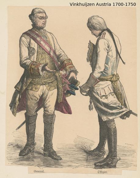Austrian Uniforms Vinkhuijzen collection NYPL Austri52