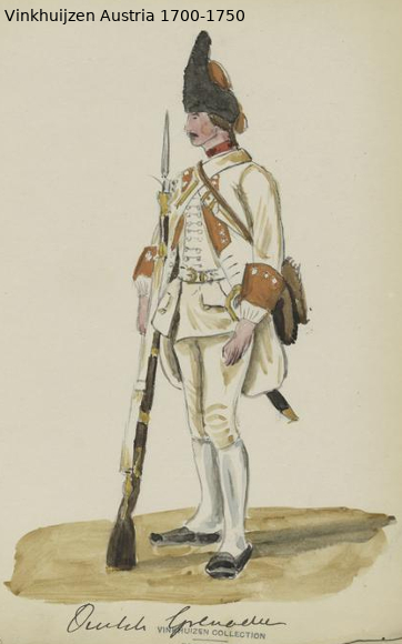 Austrian Uniforms Vinkhuijzen collection NYPL Austri55