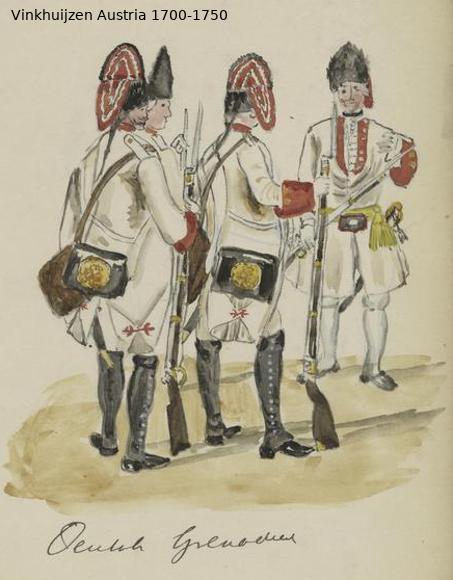Austrian Uniforms Vinkhuijzen collection NYPL Austri58