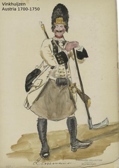 Austrian Uniforms Vinkhuijzen collection NYPL Austri59