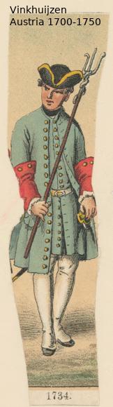 Austrian Uniforms Vinkhuijzen collection NYPL Austri61