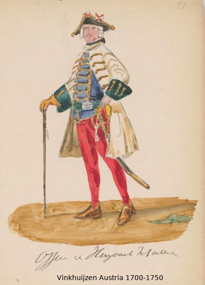 Austrian Uniforms Vinkhuijzen collection NYPL Austri63