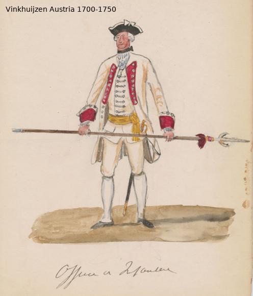 Austrian Uniforms Vinkhuijzen collection NYPL Austri65