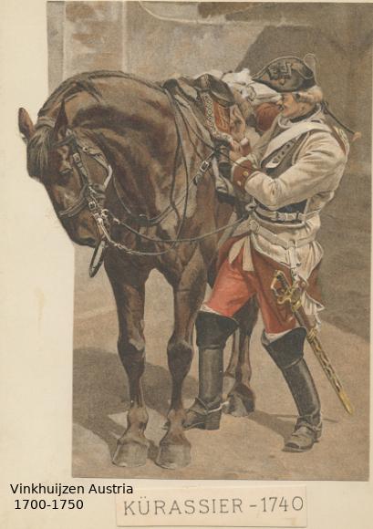 Austrian Uniforms Vinkhuijzen collection NYPL Austri73