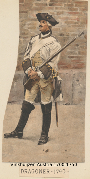 Austrian Uniforms Vinkhuijzen collection NYPL Austri74