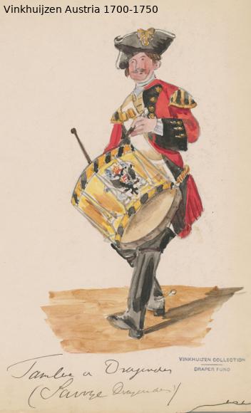 Austrian Uniforms Vinkhuijzen collection NYPL Austri75