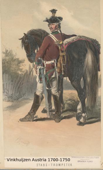 Austrian Uniforms Vinkhuijzen collection NYPL Austri76