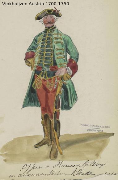 Austrian Uniforms Vinkhuijzen collection NYPL Austri78
