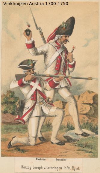 Austrian Uniforms Vinkhuijzen collection NYPL Austri79
