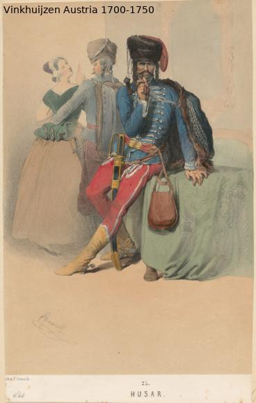 Austrian Uniforms Vinkhuijzen collection NYPL Austri81