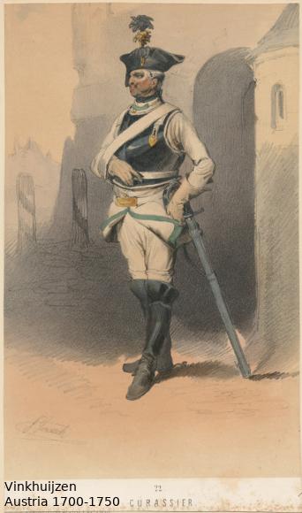 Austrian Uniforms Vinkhuijzen collection NYPL Austri82