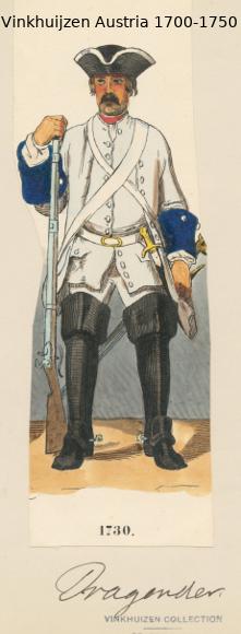 Austrian Uniforms Vinkhuijzen collection NYPL Austri83
