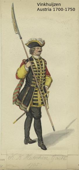 Austrian Uniforms Vinkhuijzen collection NYPL Austri85