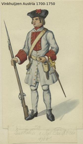 Austrian Uniforms Vinkhuijzen collection NYPL Austri88