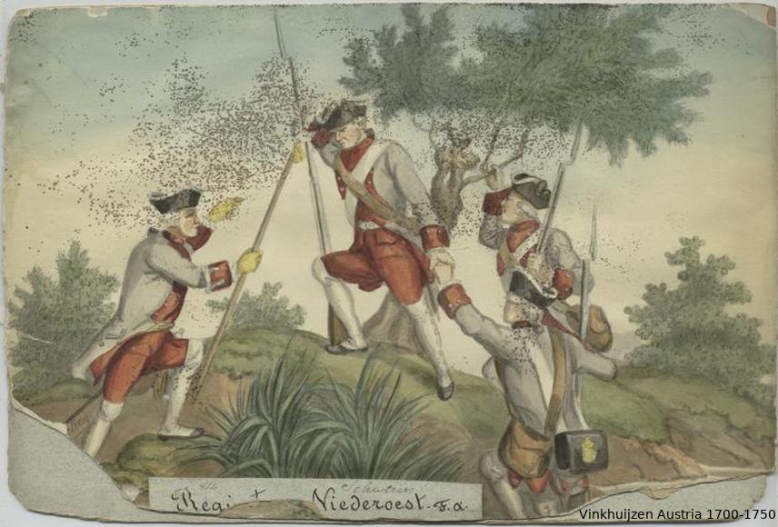 Austrian Uniforms Vinkhuijzen collection NYPL Austri90
