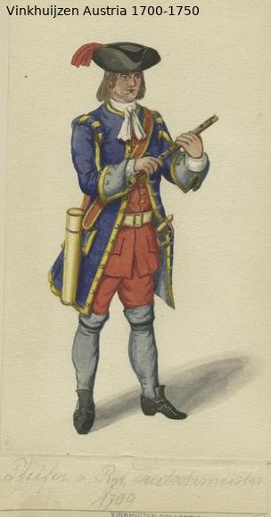 Austrian Uniforms Vinkhuijzen collection NYPL Austri91