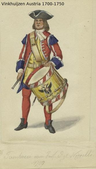 Austrian Uniforms Vinkhuijzen collection NYPL Austri93