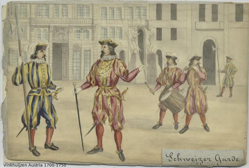 Austrian Uniforms Vinkhuijzen collection NYPL Austri95