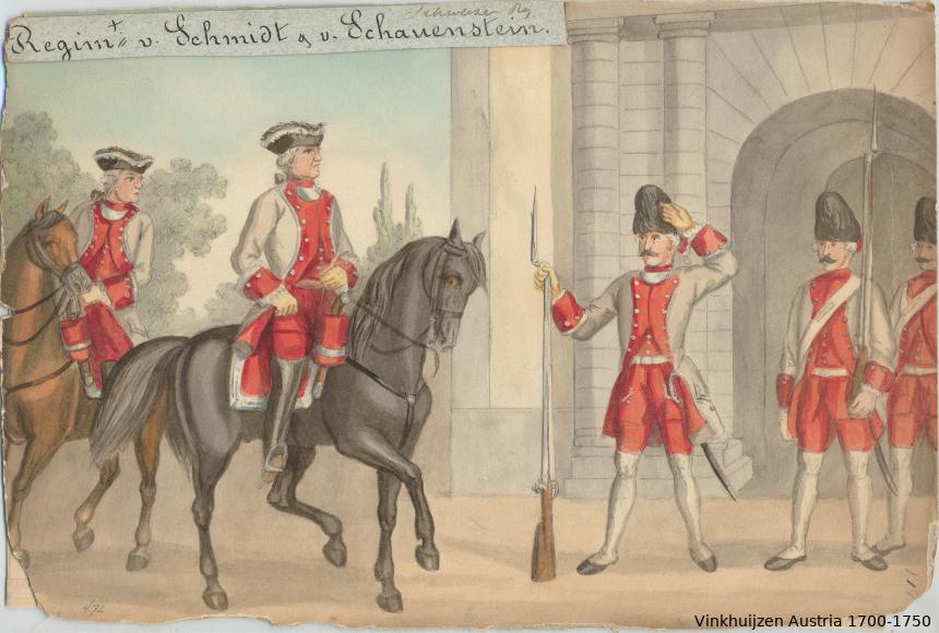 Austrian Uniforms Vinkhuijzen collection NYPL Austri98