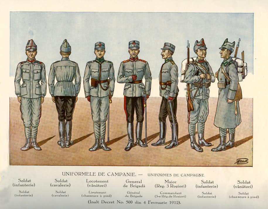 Rumanian Army Ranks from 1895 Rumain12