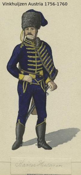 Austrian Uniforms Vinkhuijzen collection NYPL Vinkh101