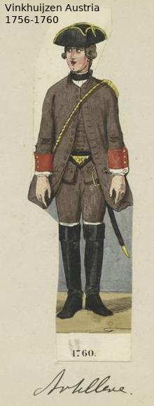 Austrian Uniforms Vinkhuijzen collection NYPL Vinkh102