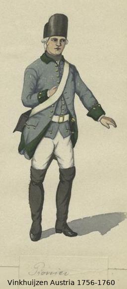 Austrian Uniforms Vinkhuijzen collection NYPL Vinkh103