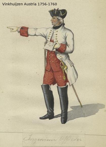 Austrian Uniforms Vinkhuijzen collection NYPL Vinkh104