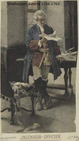 Austrian Uniforms Vinkhuijzen collection NYPL Vinkh105