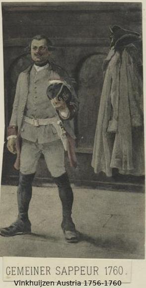 Austrian Uniforms Vinkhuijzen collection NYPL Vinkh106