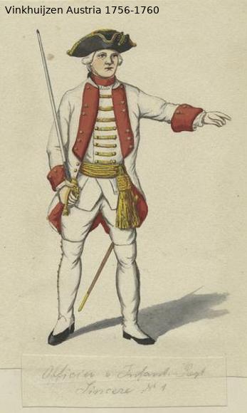 Austrian Uniforms Vinkhuijzen collection NYPL Vinkh107