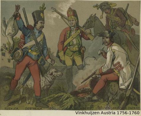 Austrian Uniforms Vinkhuijzen collection NYPL Vinkh109