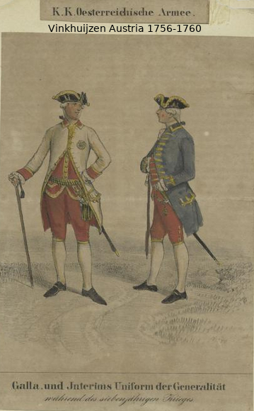 Austrian Uniforms Vinkhuijzen collection NYPL Vinkh112