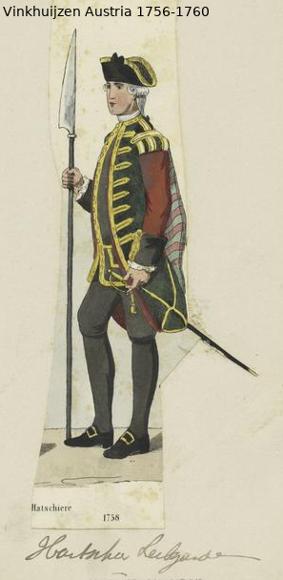 Austrian Uniforms Vinkhuijzen collection NYPL Vinkh113
