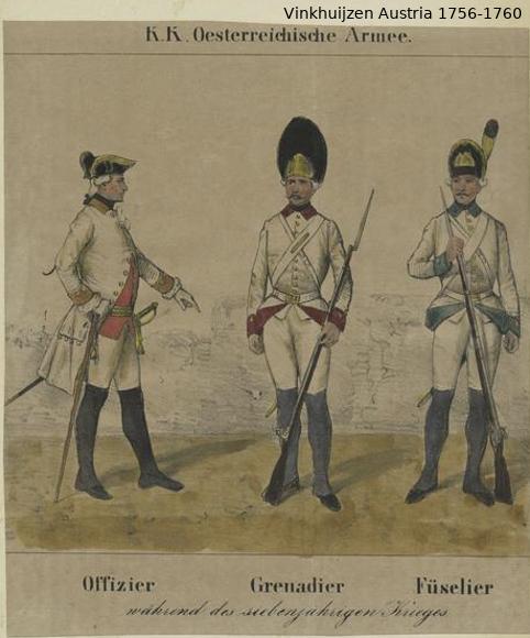 Austrian Uniforms Vinkhuijzen collection NYPL Vinkh114