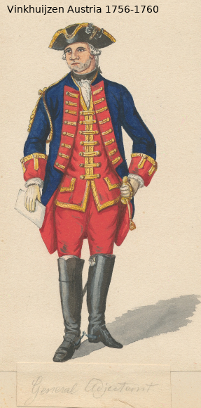Austrian Uniforms Vinkhuijzen collection NYPL Vinkh142