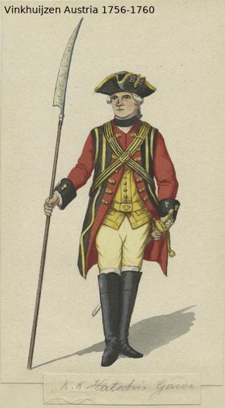 Austrian Uniforms Vinkhuijzen collection NYPL Vinkh143