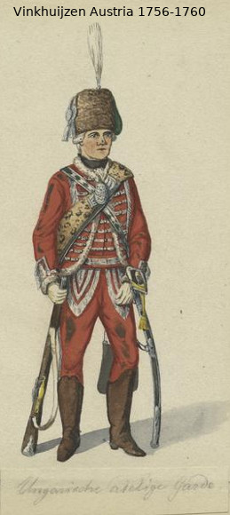 Austrian Uniforms Vinkhuijzen collection NYPL Vinkh145