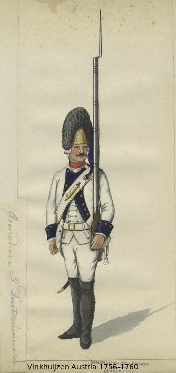 Austrian Uniforms Vinkhuijzen collection NYPL Vinkh146