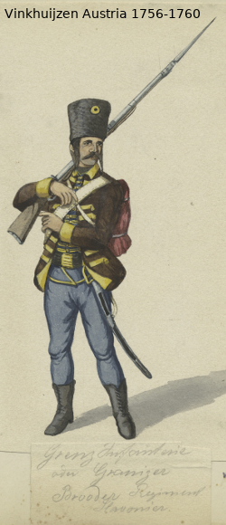 Austrian Uniforms Vinkhuijzen collection NYPL Vinkh151