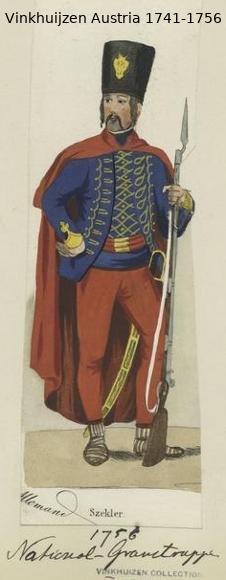 Austrian Uniforms Vinkhuijzen collection NYPL Vinkhu10