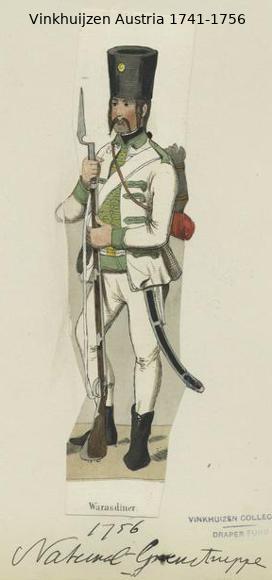 Austrian Uniforms Vinkhuijzen collection NYPL Vinkhu12